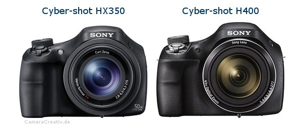 Sony cyber shot hx350 vs Sony cyber shot h400