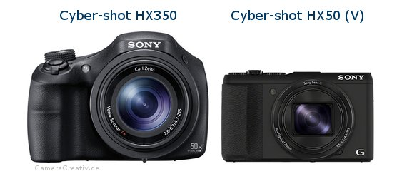 Sony cyber shot hx350 vs Sony cyber shot hx50