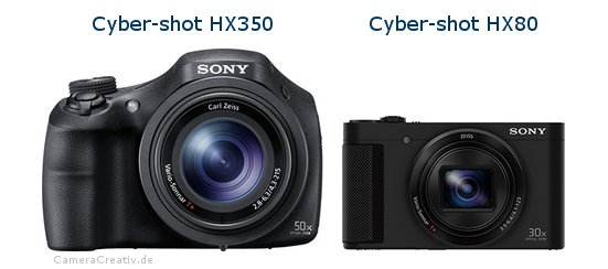 Sony cyber shot hx350 vs Sony cyber shot hx80
