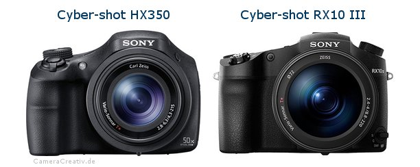 Sony cyber shot hx350 vs Sony cyber shot rx10 iii