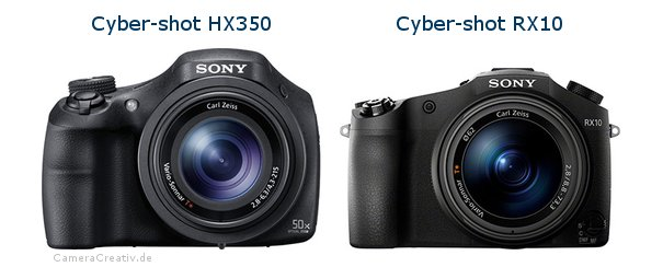 Sony cyber shot hx350 vs Sony cyber shot rx10