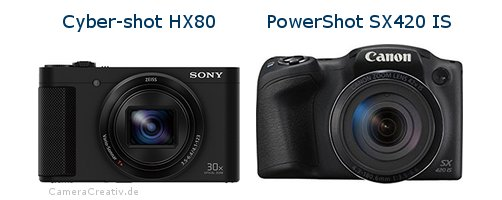 Sony cyber shot hx80 oder Canon powershot sx420 is