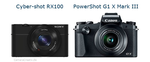 Sony cyber shot rx100 vs Canon powershot g1 x mark iii