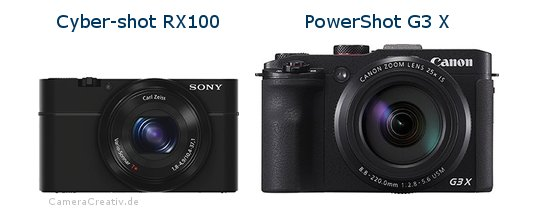 Sony cyber shot rx100 oder Canon powershot g3 x