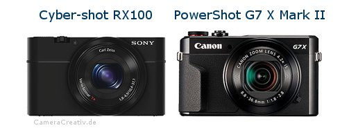 Sony cyber shot rx100 vs Canon powershot g7 x mark ii