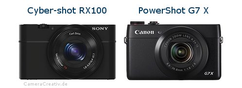 Sony cyber shot rx100 oder Canon powershot g7 x