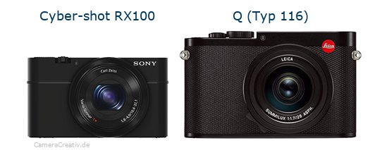 Sony cyber shot rx100 vs Leica q