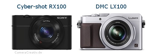 Sony cyber shot rx100 vs Panasonic dmc lx 100