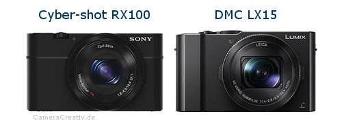 Sony cyber shot rx100 vs Panasonic dmc lx 15