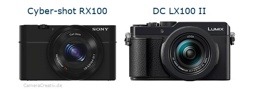 Sony cyber shot rx100 vs Panasonic lumix lx100 ii