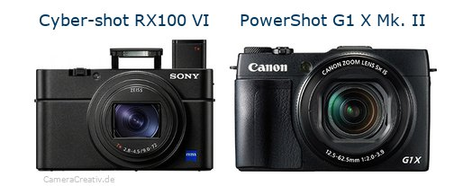 Sony cyber shot rx100 vi vs Canon powershot g1 x mark ii