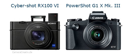 Sony cyber shot rx100 vi vs Canon powershot g1 x mark iii