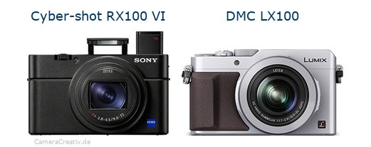 Sony cyber shot rx100 vi vs Panasonic dmc lx 100