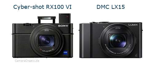 Sony cyber shot rx100 vi vs Panasonic dmc lx 15