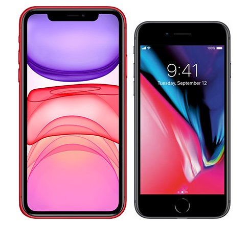 Smartphonevergleich: Iphone 11 oder Iphone 8
