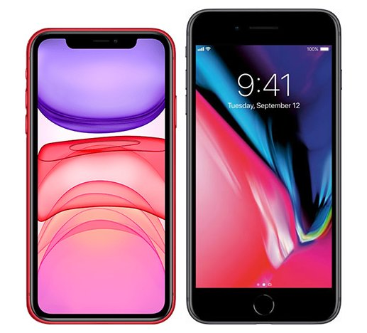 Smartphonevergleich: Iphone 11 oder Iphone 8 plus