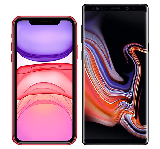 Smartphonevergleich: Iphone 11 oder Samsung galaxy note 9