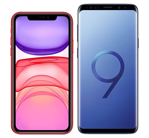 Smartphonevergleich: Iphone 11 oder Samsung galaxy s9 plus