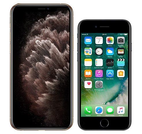 Smartphonevergleich: Iphone 11 pro max oder Iphone 7