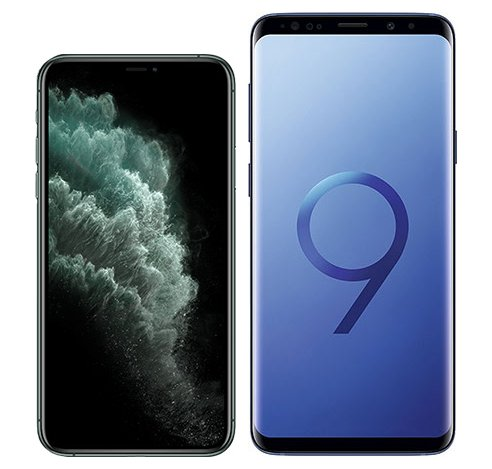 Smartphonevergleich: Iphone 11 pro oder Samsung galaxy s9 plus