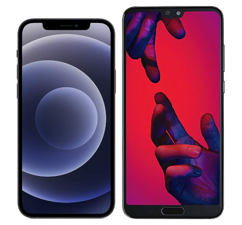 Smartphonevergleich: Iphone 12 oder Huawei p20 pro