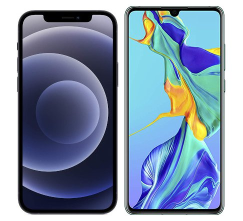Smartphonevergleich: Iphone 12 oder Huawei p30