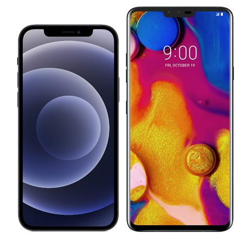 Smartphonevergleich: Iphone 12 oder Lg v40 thinq