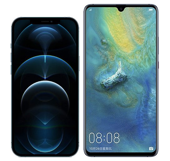 Smartphonevergleich: Iphone 12 pro max oder Huawei mate 20 x