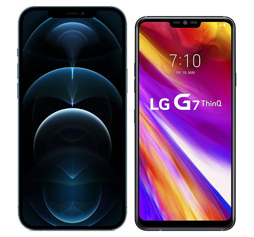 Smartphonevergleich: Iphone 12 pro max oder Lg g7 thinq