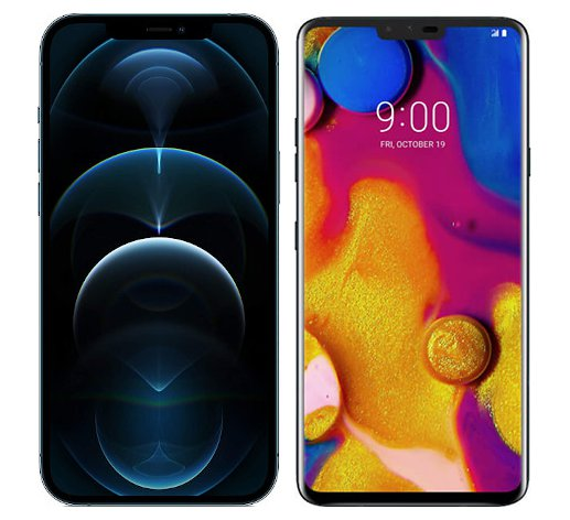 Smartphonevergleich: Iphone 12 pro max oder Lg v40 thinq