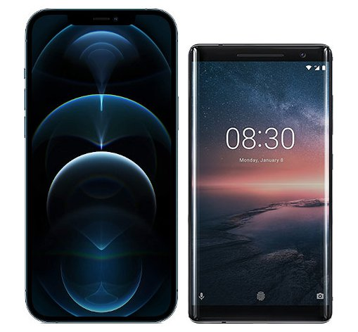 Smartphonevergleich: Iphone 12 pro max oder Nokia 8 sirocco