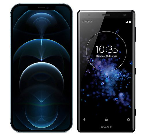 Smartphonevergleich: Iphone 12 pro max oder Sony xperia xz2