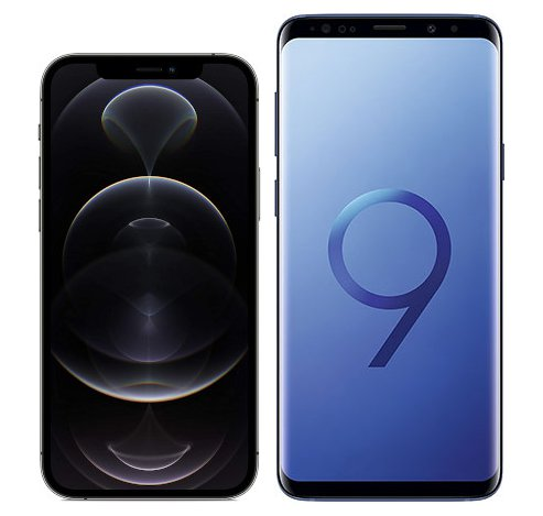 Smartphonevergleich: Iphone 12 pro oder Samsung galaxy s9 plus