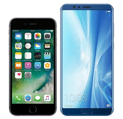 Smartphonevergleich: Iphone 6s oder Honor view 10