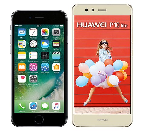 Smartphonevergleich: Iphone 6s oder Huawei p10 lite