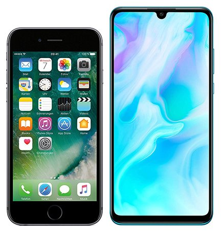 Smartphonevergleich: Iphone 6s oder Huawei p30 lite