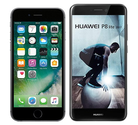 Smartphonevergleich: Iphone 6s oder Huawei p8 lite