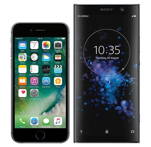 Smartphonevergleich: Iphone 6s oder Sony xperia xa2 plus