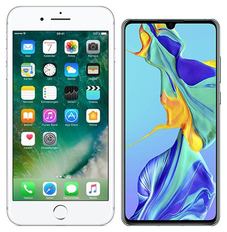 Smartphonevergleich: Iphone 7 plus oder Huawei p30