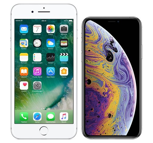 Smartphonevergleich: Iphone 7 plus oder Iphone xs