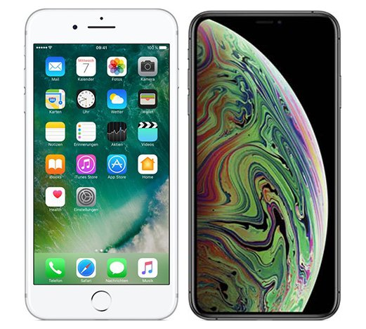 Smartphonevergleich: Iphone 7 plus oder Iphone xs max