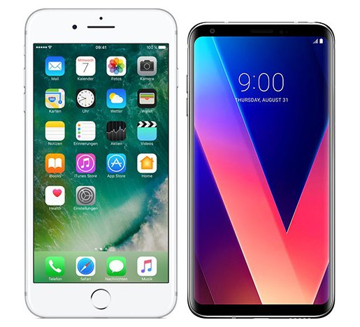 Smartphonevergleich: Iphone 7 plus oder Lg v30