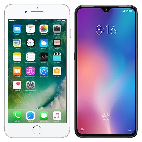 Xiaomi mi 8 vs iphone 7 plus