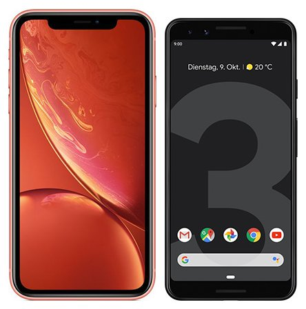 Smartphone Comparison: Iphone xr vs Google pixel 3