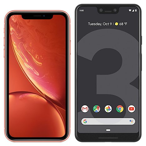 Smartphone Comparison: Iphone xr vs Google pixel 3 xl