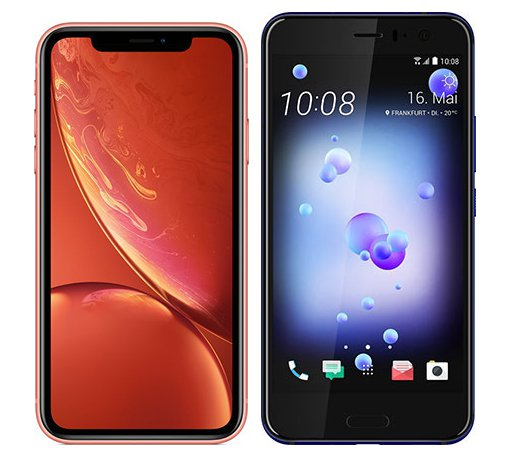 Smartphone Comparison: Iphone xr vs Htc u11