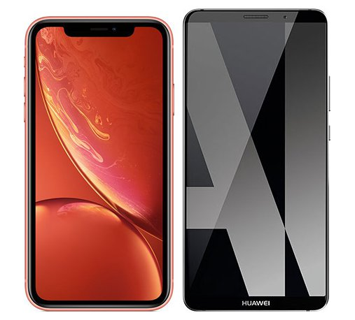Smartphone Comparison: Iphone xr vs Huawei mate 10 pro