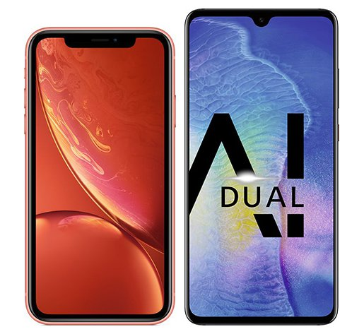 Smartphone Comparison: Iphone xr vs Huawei mate 20