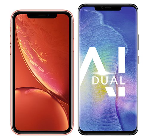Smartphone Comparison: Iphone xr vs Huawei mate 20 pro