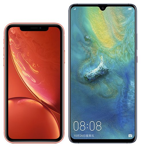 Smartphone Comparison: Iphone xr vs Huawei mate 20 x